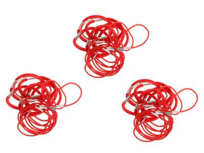 3 Packs of Red Hair Elastic Bobbles