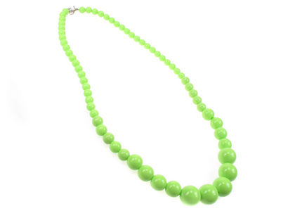 Lime Graduated Necklace