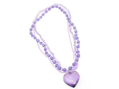 Girls Purple Heart Necklace