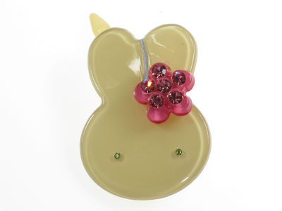 Bunny Resin Hair Clip - Pale Golden