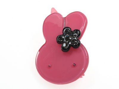 Bunny Resin Hair Clip - Dark Pink