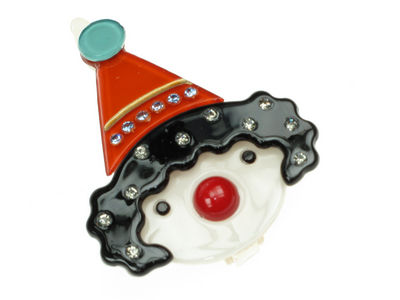 Clown Resin Hair Clip - Black