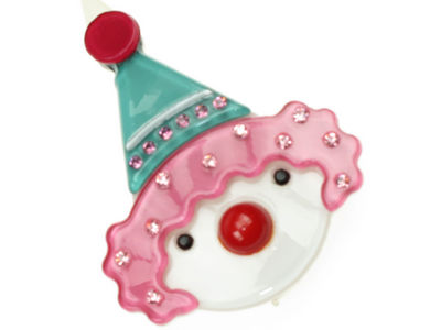 Clown Resin Hair Clip - Pink