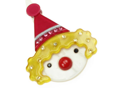 Clown Resin Hair Clip - Yellow