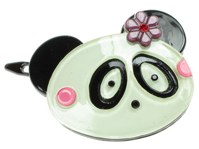 Panda Resin Hair Clip - Purple