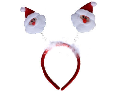 Christmas Santa Deeley Bopper Headband