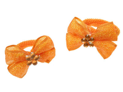 Orange Shimmer Bow Ponios