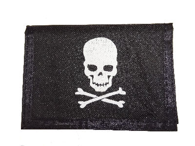 Skull and Crossbones Pirate's Wallet