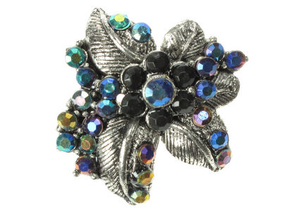 Art Deco Black Brooch