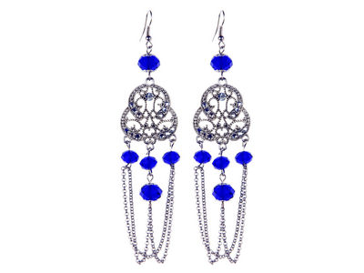 Cobalt Blue Vintage Earrings