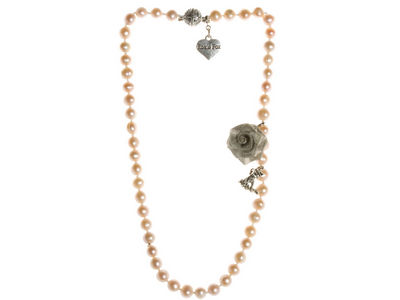 Pink Pearl Single Strand Necklace