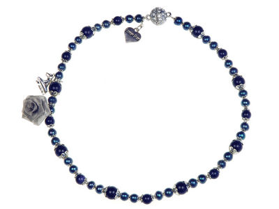 Midnight Pearl Charm Necklace