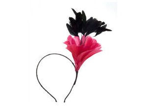 Fuchsia Flower Fascinator Alice Band