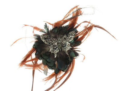 Crystal Butterfly Fascinator Alice Band