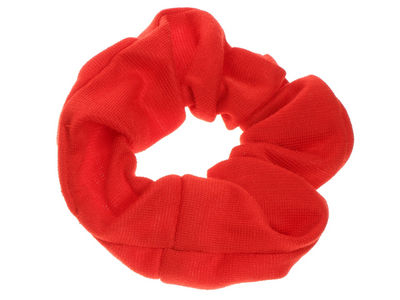 Red Jersey Scrunchie Hair Bobble