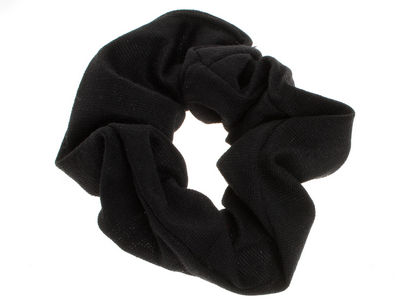 Black Jersey Scrunchie Hair Bobble