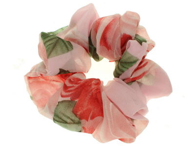 Pale Pink Rose Scrunchie Hair Bobble