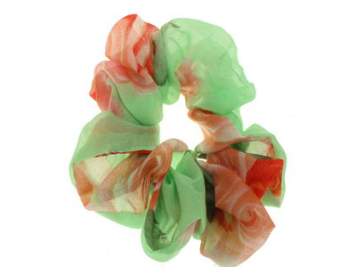 Green Rose Scrunchie Hair Bobble