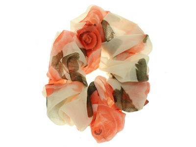 Cream Rose Scrunchie Hair Bobble