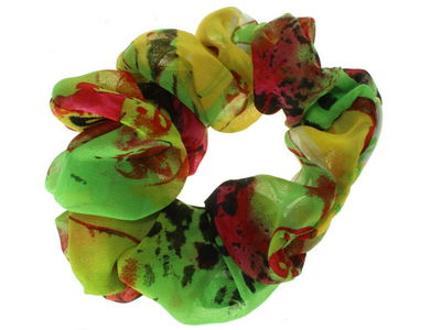 Green Abstract Print Scrunchie Hair Bobble
