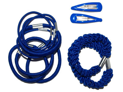 Royal Blue Elastic Hair Set