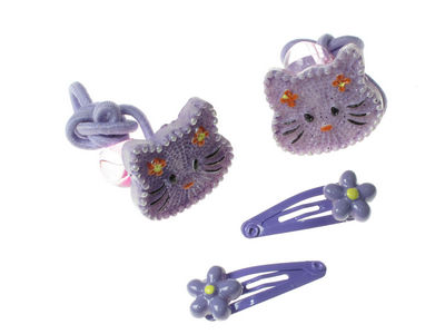 Purple Cat Hair Set