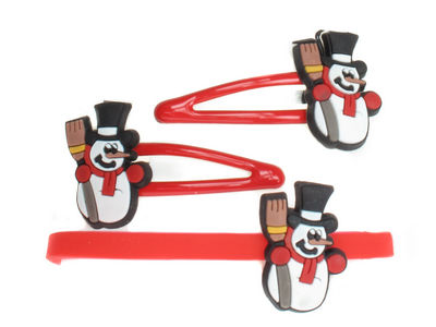 Red Christmas Snowman Set