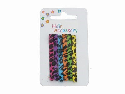 Black Animal Print Hair Slides