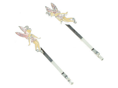 Fairy Enamel Hair Slides - Pink