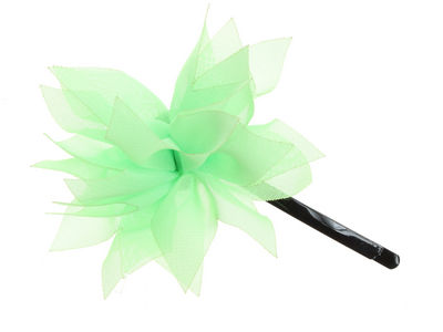 Pale Green Organza Flower Hair Slide