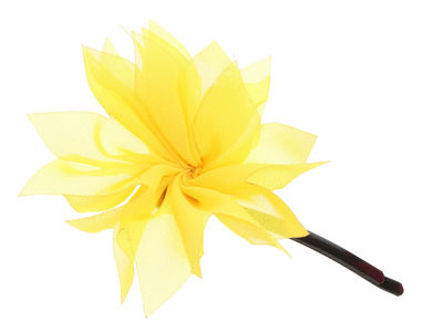 Yellow Organza Flower Hair Slide