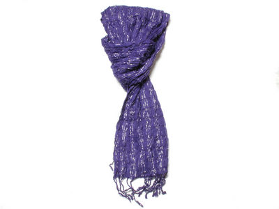 Purple Gabrielle Crinkle Fashion Scarf