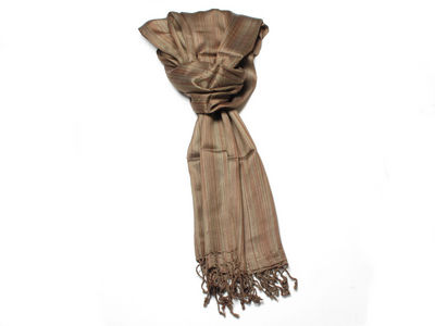 Brown Zoe Striped Fashion Scarf