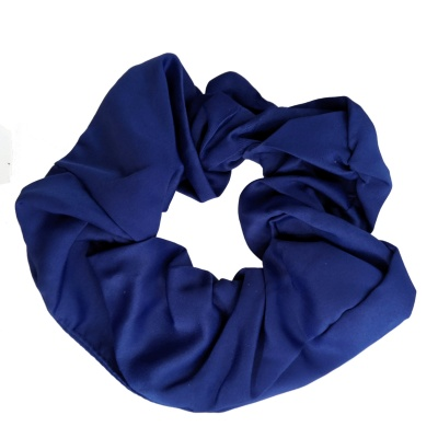 Royal Blue Satin Style Scrunchie Hair Bobble