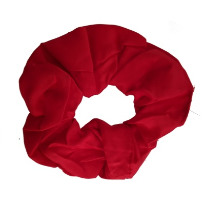 Red Satin Style Scrunchie Hair Bobble
