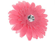 Dusky Pink Fabric Flower Beak Clip