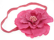 Kelly Hot Pink Flower Headband