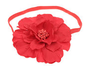 Kelly Red Flower Headband
