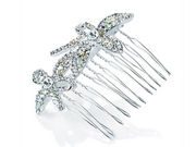 Crystal Flower Wire Hair Comb