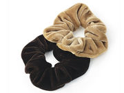 Pair of Brown Velvet Scrunchies