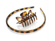 Tort Brown Headband Claw Clamp Clip