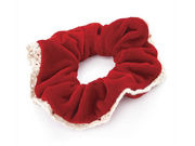 Red Velvet Lace Hair Scrunchie Bobble