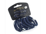 20 Piece Navy Blue Elastic/Clip Hair Set