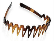 Tort Brown Zig Zag Headband with Comb