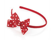 Girls Red Spot Headband