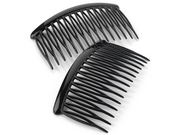 8cm Curved Black Side Hair Combs