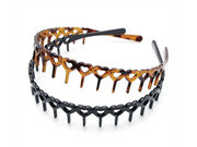 Tort Brown and Black Heart Headbands with Teeth