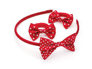 Girls Red Spot Ponio Donuts and Headband