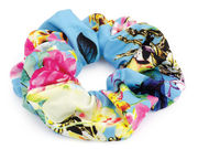Sky Blue Floral Scrunchie