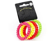 Neon Telephone Cord Scrunchie Hair Bobbles